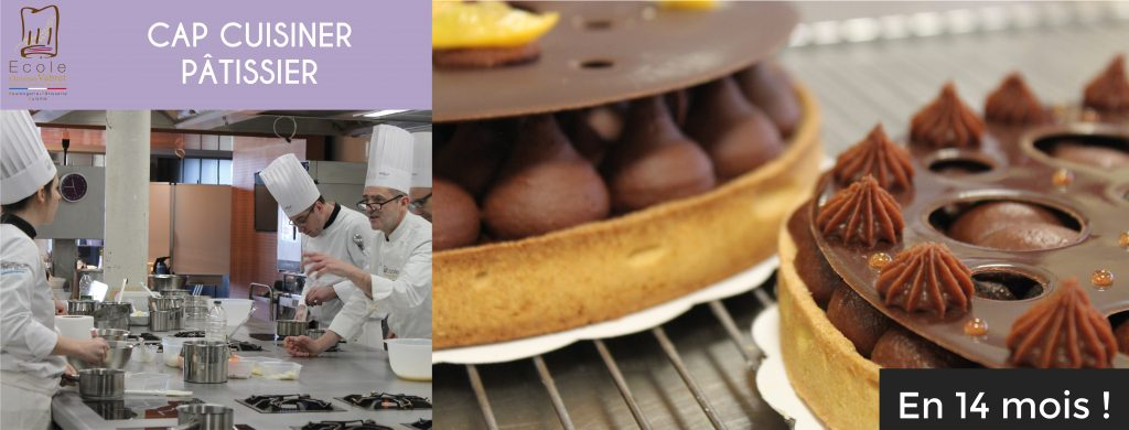CAP CUISINIER PATISSIER - RECONVERSION PROFESSIONNELLE