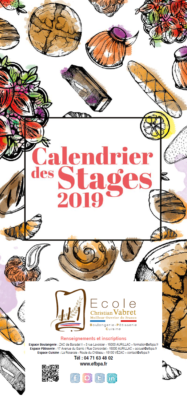 Ameline Calendrier.Stages Professionnels Archives Ecole Christian Vabret