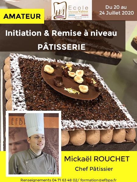 INITIATION A LA PATISSERIE - 20 24 JUILLET