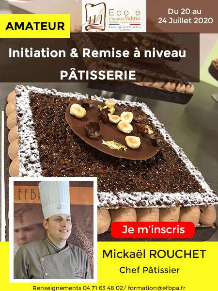 INITIATION A LA PATISSERIE - ECOLE CHRISTIAN VABRET