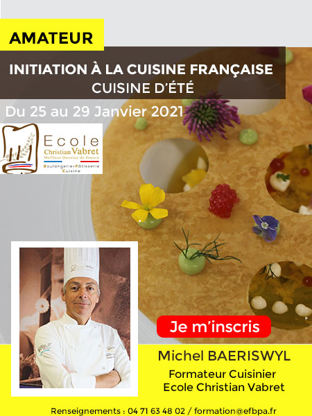 INITIATION A LA CUISINE - ECOLE CHRISTIAN VABRET