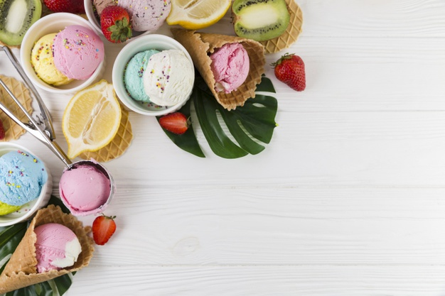 glaces sorbets